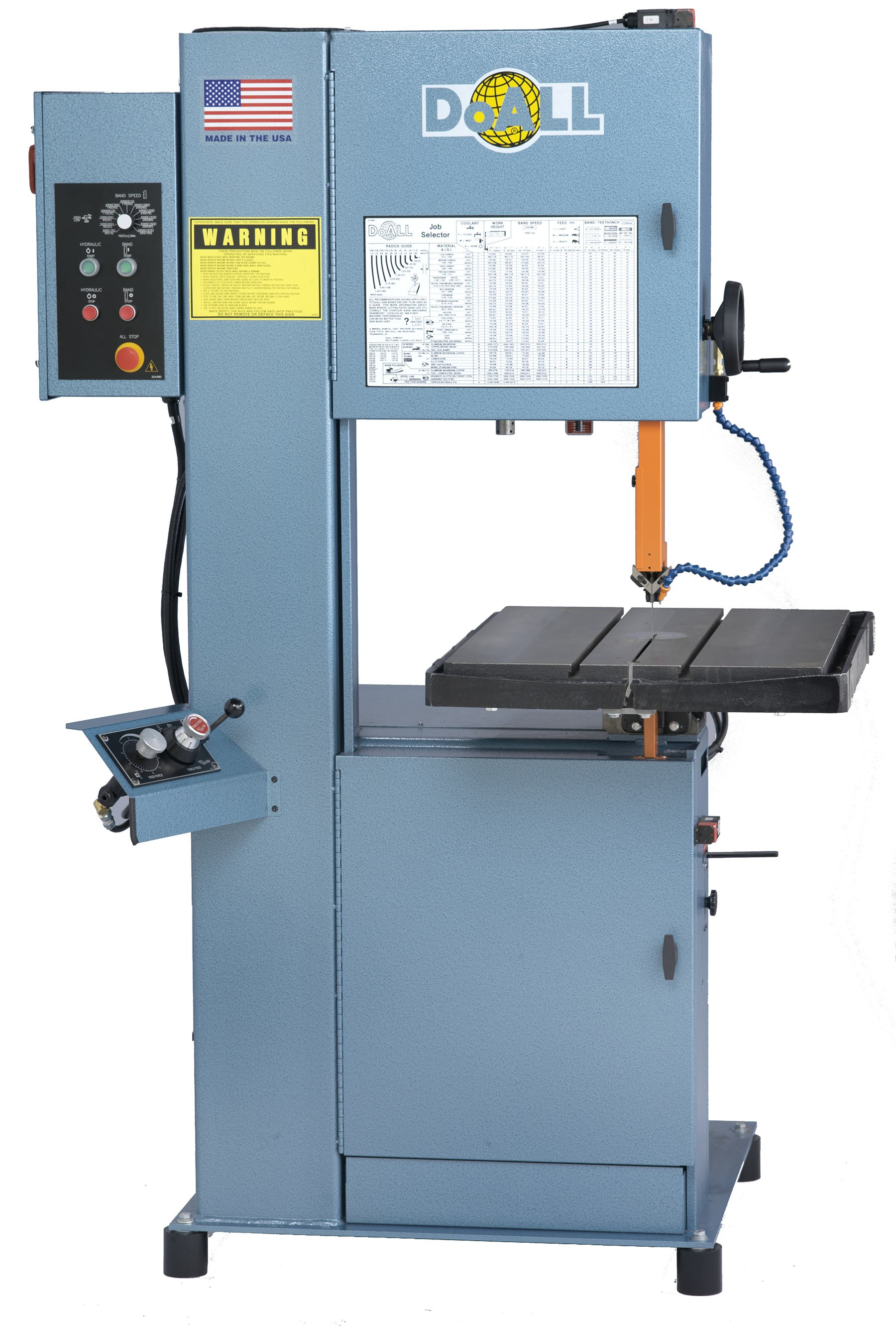 Vertical Concrete Saw Cutting Equipment : Doall vertical contour band saw vh elite metal tools