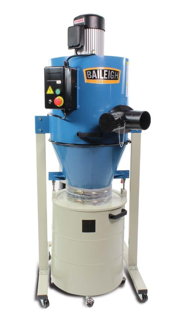 Baileigh Dc 1450c Cyclone Dust Extractor Elite Metal Tools