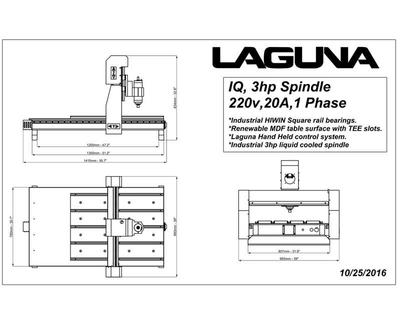 Laguna Tools Benchtop Cnc Router Table Mcnc Iq Hhc 24 Quot X