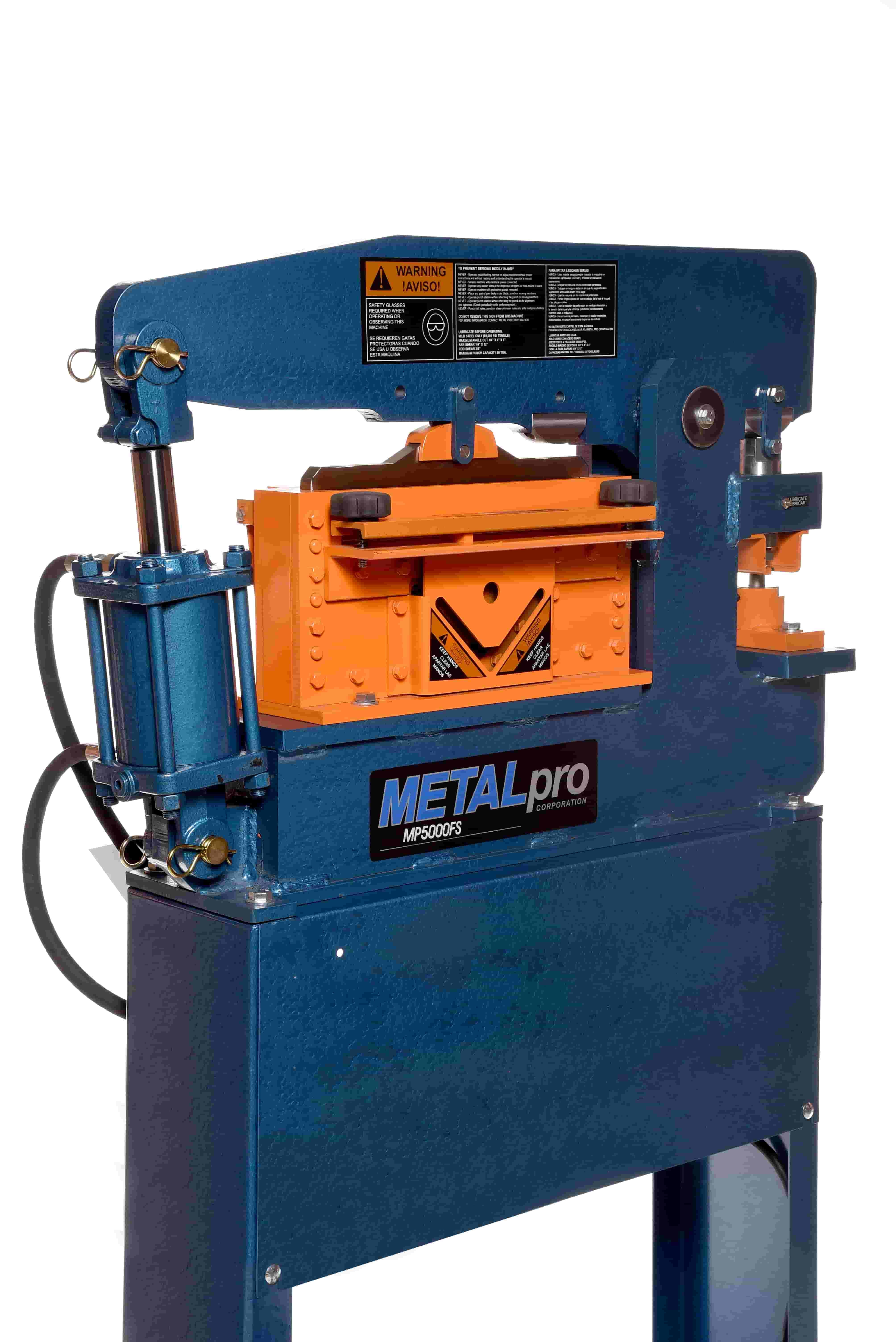 Metalpro Ironworker 50 Ton Mp5000fs Elite Metal Tools