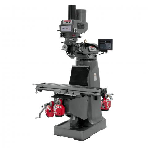 Jet Jtm 4vs Mill With 3 Axis Newall Dp700 Dro Quill With
